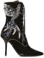 Alberta Ferretti lace up boots
