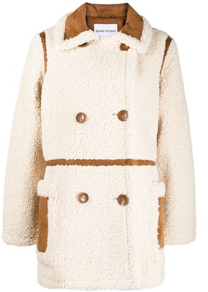 Stand Studio Shearling Double-Breasted Coat