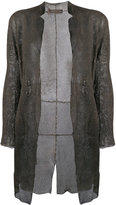 Salvatore Santoro - mesh detail coat - women - Sheep Skin/Shearling - 40
