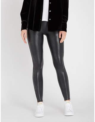 Spanx Crocodile-print faux-leather leggings
