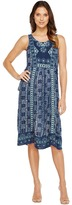 Lucky Brand Embroidered Printed Dress Women's Dress