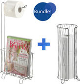 JCPenney Wave Toilet Caddy and Tissue Roll Holder Bundle