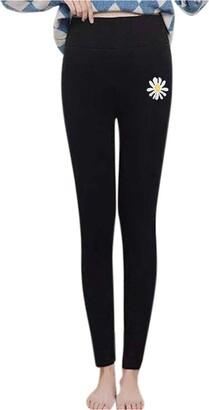 Jiegorge Pants Women Daisy Warm Winter Tight Thick Velvet Wool Cashmere Pants Trousers Leggings