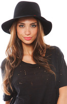 Leone Janessa Isis Hat with Feathers in Black