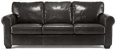 JCPenney Possibilities Bison Roll-Arm Leather Sofa