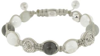 Shamballa Rainbow Moonstone Diamond Bead Bracelet