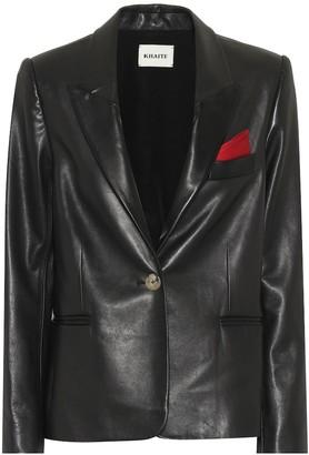 KHAITE Brita leather blazer