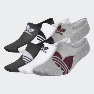 adidas Trefoil Superlite Super-No-Show Socks 6 Pairs