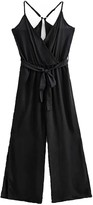 Goodnight Macaroon 'Lucille' Cross Strap Waist Tied Jumpsuit (3 Colors)