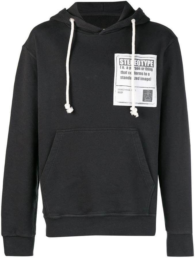 Maison Margiela stereotype patch hoodie