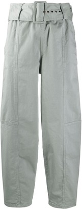 See by Chloe Belted Straight Fit Trousers