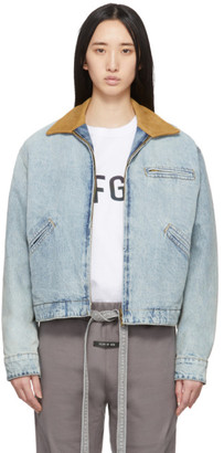 Fear Of God Blue Denim Work Jacket