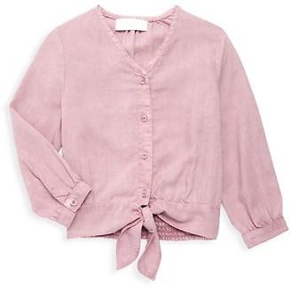 Bella Dahl Little Girl's Girl's Tie-Front Shirt