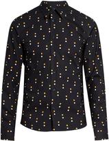 Marni Contrast dot-print cotton-poplin shirt