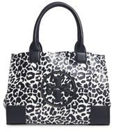 Tory Burch Mini Ella Leopard Print Nylon Tote - Blue