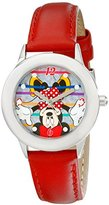 Disney Kids' W001974 Minnie Mouse Analog Display Analog Quartz Red Watch