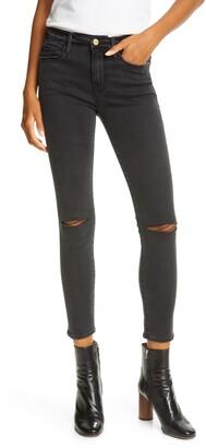 Frame Le Skinny de Jeanne Ripped AnkleJeans