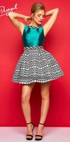 Mac Duggal Printed Circle Skirt Cocktail Dress