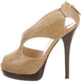 Fendi Crazy In Love Snakeskin Sandals