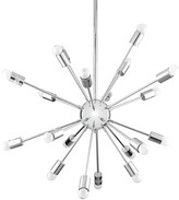 The Well Appointed House Silver Chrome Plated Metal Starburst Chandelier