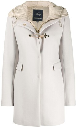 Fay Toggle-Front Hooded Duffle Coat