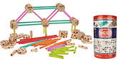Tinkertoy TinkerToy Deluxe 100pc Wooden Building Set