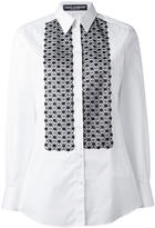 Dolce & Gabbana embroidered bib shirt - women - Cotton/Polyester - 42