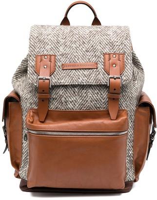 Brunello Cucinelli Herringbone Backpack