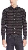 Naked & Famous Denim Men's Triangles Stitch Regular Fit Button Down Shirt
