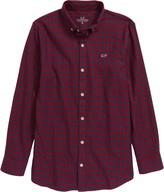 Vineyard Vines Stretch Whale Flannel Button-Up Shirt
