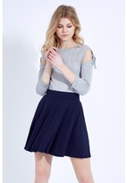 Select Fashion Fashion Seam Detail Hw Skater Skirt Midi Skirts - size 6
