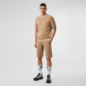 Burberry Monogram Motif Cashmere Drawcord Shorts
