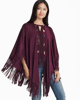 White House Black Market Fringe-Trim Cape
