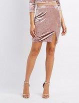 Charlotte Russe Velvet Slit Pencil Skirt