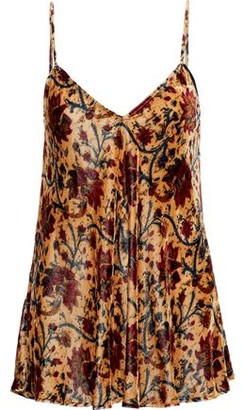 Mes Demoiselles Cherubin Floral-print Velvet Camisole