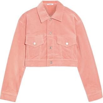 Ganni Ridgewood Cropped Cotton-blend Corduroy Jacket