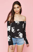 KENDALL + KYLIE Kendall & Kylie Floral Off-The-Shoulder Top