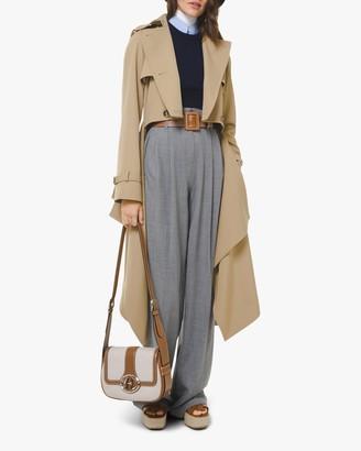 Michael Kors Gabardine Draped Wool Trench Coat