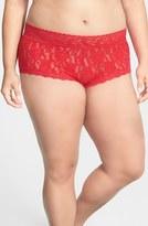 Hanky Panky Plus Size Women's Stretch Lace Boyshorts