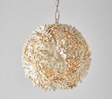 Pottery Barn Kids Coco Wood Flower Ball Pendant - Hardwire