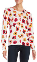 Lord & Taylor Petite Floral-Print Cotton-Modal Cardigan