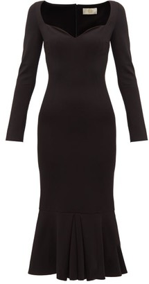 Sara Battaglia Sweetheart-neckline Jersey Maxi Dress - Womens - Black