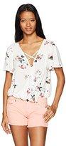 Love love, FiRE Women's Challis Flutter Sleeve Floral Print Top