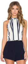 Bishop + Young Striped High Neck Crop Tank