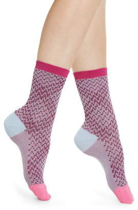 Hysteria By Happy Socks Rosa Crew Socks