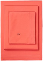 Lacoste Brushed Twill Pillowcase - Deep Sea Coral