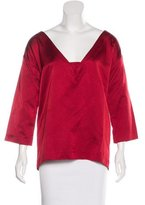 Miu Miu Long Sleeve Silk Top w/ Tags
