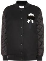 Fendi Karlito Bomber Jacket With Fur