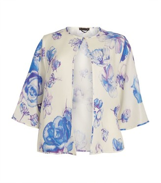 Marina Rinaldi Short Floral Print Jacket