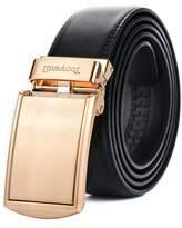 Tonywell Men's Gunmetal Leather Belt Custom Fit